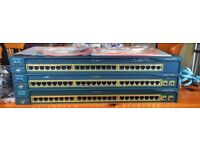 x3 Cisco Catalyst 2950 Series Switches. Perfect for Learning for Cisco Certifications