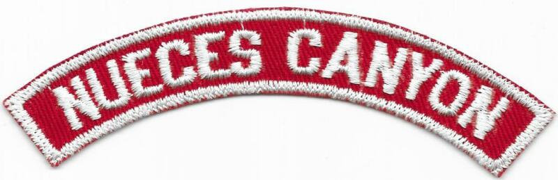 Nueces Canyon Red and White RWS Community Strip Vintage Boy Scouts BSA