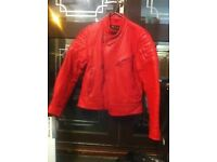 motorbike jacket, red leather Excellent condition retail price-£170 Bargain!