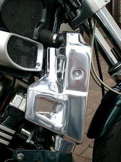 Yamaha V-Max 1200 #160B Radiator Side Covers in Polished Aluminium © Exactrep