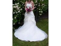 Wedding dress ivory and white dress size 8
