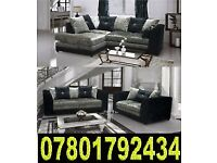 BANK HOLIDAY SALE SOFA B.R.A.N.D NEW CRUSH - VELVET 3 AND 2 CORNER SOFAS