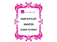 Hair Stylist/Barber chair to Rent - Hairdresser chair Self Employed
