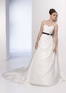 Unaltered, Never Worn Alyce Wedding Dress with Marquise Veil