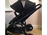Britax bdual single and double pushchair
