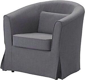 LF a dark GRAY Ikea ARMCHAIR or SLIPCOVER