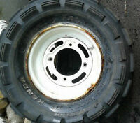2 x Kawasaki 300 4x2 10 inch front rims and tires