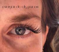 extension de cils  **promotion**