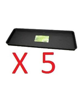 5 X GROW BAG TRAY MULTI BUY 100CM X40CM MADE IN UK EXCELLENT QUALITY