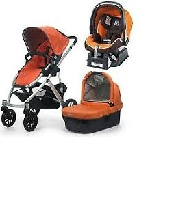 Uppababy Vista Stroller-bassinet-Peg-Perego car seat-adapter ..