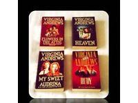 VIRGINIA ANDREWS BOOKS - (4) - PAPERBACK - FOR SALE