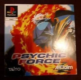 PS1 playstation 1 game booklet - Psychic Force. VGC