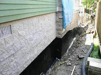 Excavation and water proofing basements