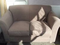 Brown / Mocha Two Seater Sofa from Argos