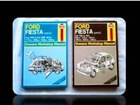 HAYNES CAR SERVICE AND REPAIR MANUALS - FORD FIESTA (2) - FOR SALE