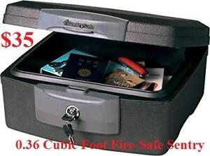 New in box 0.36 Cubic Foot Fire-Safe Sentry Safe Water-Resistant Fire Security Safe Hand Gun