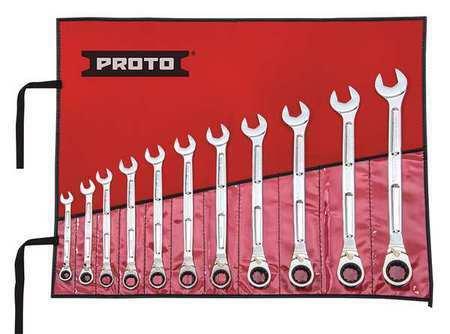 PROTO JSCV-11SA Ratcheting Wrench Set,Pieces 11