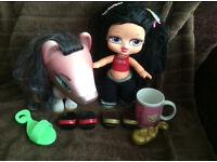 Big Bratz doll and horse