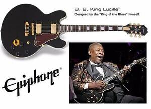 NEW* EPIPHONE ELECTRIC GUITAR B.B. King Lucille Electric Guitar Regular, Ebony Musical Instruments Electric 85815855