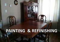 ANTIQUE REFINISHING AND CABINET PAINTING