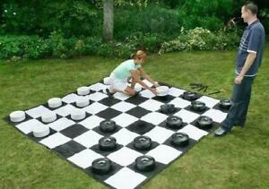 Giant Checkers with 8 x 8 Mat