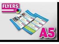 Flyer printing 5000 A5 flyers printed full colour to both sides £120