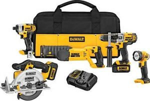 Kit 5 tools dewalt 20 v brand new