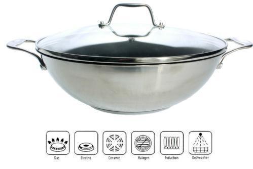 wok pfanne induktion ebay. Black Bedroom Furniture Sets. Home Design Ideas