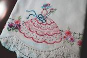 Vintage Embroidered Southern Belle Pillowcases