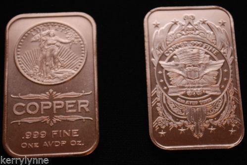 1 Oz Copper Bar Ebay