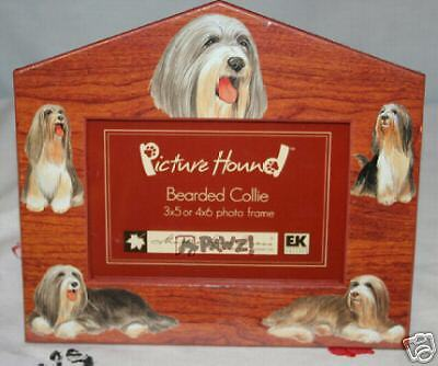 BEARDED COLLIE - Dog House Pet Photo Picture Frame NEW