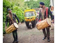 DHOL PLAYERS IN MANCHESTER, ASIAN DJ BRASS BAND BAJA WEDDING EVENT INDIAN DRUMMERS & BHANGRA DANCERS
