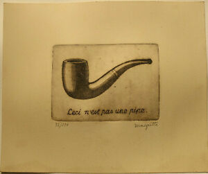 RENE' MAGRITTE  Etching signed