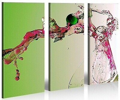 "Picture(s): 3 panel triptych ""Martini Cocktail"""