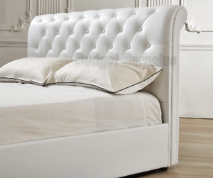 Valencia Gas Lift Storage PU Leather Bed Frame Black or White New Hoppers Crossing Wyndham Area Preview