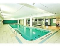 2 bedrooms, 2 full bathrooms penthouse condo, parking, pool, etc