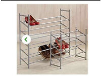 Basically brand new 5 tier extendable shoe rack.