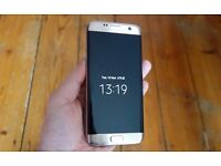 Samsung Galaxy S7 Edge Gold - With Box - Mint Condition - Unlocked - Sim Free - 32gb