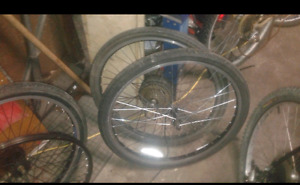 E bike.rims with.motor in.rear hub 26inch bicycle