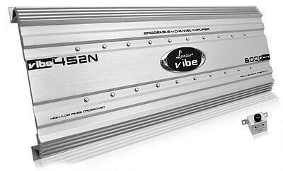 New Lanzar VIBE452N Car Audio Vibe 6000 Watt 4 Channel Mosfet Amplifier Tri-Mode