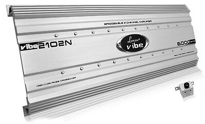 Lanzar Vibe2102n Vibe 6000 Watt 2-channel Mosfet Amplifier