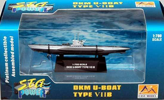 Easy Model - DKM U-boat Type VIIB VII B U Boat Type Finshed Model 1:700 Navy U7