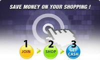 Get Cash Back to Shop Online
