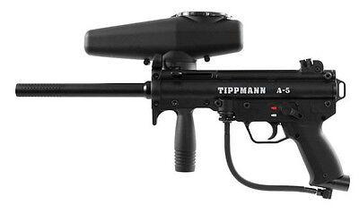 New Tippmann A5 Tactical Black Mil Sim Paintball Gun Marker w Response Trigger