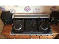 Pioneer CDJ 350s and DJM 350 mixer including flight case