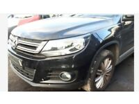 A single unit: Front end assembly right hand drive UK VW Tiguan MK1 5N 1st Gen facelift 2011-2016