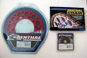 Renthal-Chain-And-Red-Sprocket-Kit-CR-CRF-125-250-450-500-R-X-Motocross
