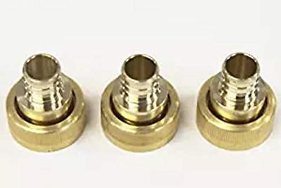 Viega 46414 Pureflow Zero Lead Brass Pex Crimp Supply Adapter With 34-inch By 1