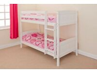 3F WHITE PAINTED PINE BUNK BEDS - NEVER BEEN ASSEMBLED