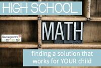HIGH SCHOOL MATH AND SCIENCE  TUTORING @ $15 AN HOUR